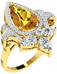 [Sponsored]His & Her Gold, Diamond And Yellow Sapphire Ring For Women