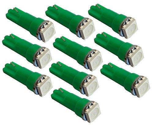 AERZETIX: 10x Ampoule T5 12V LED SMD Vert pour Tableau de Bord