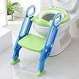 Aerobath Kinder Töpfchentrainer Toiletten Training Sitz mit Leiter, Kinder Töpfchen Toilettensitz Trainer mit Treppe, rutschfest stabil klappbar und höhenverstellbar für 1-7 jährige Kids