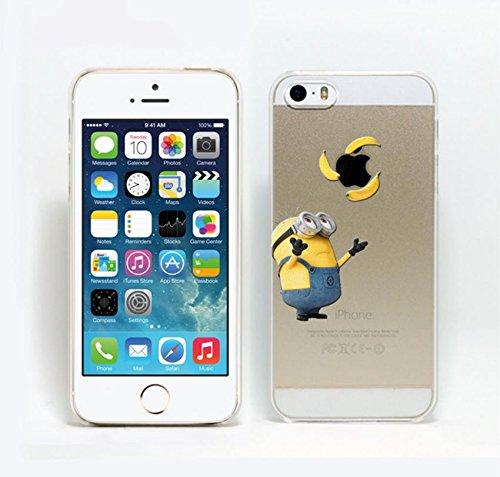 cas de Minion pour Apple iPhone 6s, 6 couverture de téléphone dur / design mince Cartoon dur retour / avec protecteur d'écran/ iCHOOSE / panier exotique jongler avec trois
