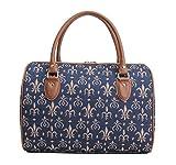 Modische Damen Reisetasche aus Leinen