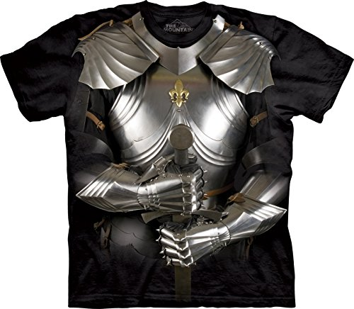 T-shirt Body Armor (The Mountain Mädchen Body Armor Kids Tee T-Shirt Schwarz Large)
