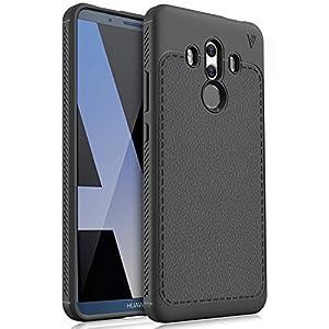 Huawei Mate 10 Pro Cover, KuGi Protettiva Case Cover Custodia in silicone per Huawei Mate 10 Pro Smartphone (Nero)