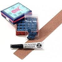 11mm x 25 Blue Velvet glue on snooker pool cue tips