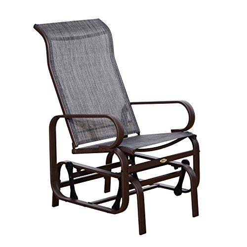 Outsunny® Schaukelstuhl Gartenstuhl Relaxstuhl Gartenschaukel Garten Metall Schaukel Stuhl