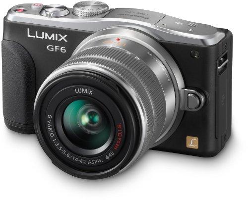 Panasonic DMC-GF6KEG9K LUMIX Systemkamera (16 Megapixel, 7,6 cm (3 Zoll) LCD-Display, Full HD) inkl. H-FS1442AE-S Lumix Vario Objektiv schwarz
