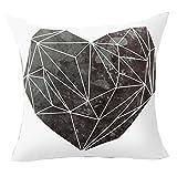Pu Ran Flower Geometric Pattern Throw Pillow Case Cushion Cover Home Sofa Decor - 4 Heart Graphic