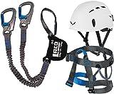 Klettersteigset LACD Pro Evo + Gurt Easy Ferrata 2.0 + Helm Salewa Toxo