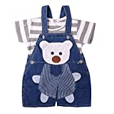 Best 3 Shirt - ICABLE Baby Boys Half Sleeves Soft Denim Dungaree Review
