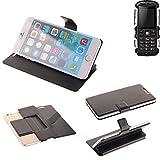 K-S-Trade Schutz Hülle für Jiayu F2 Schutzhülle Flip Cover Handy Wallet Case Slim Handyhülle bookstyle schwarz
