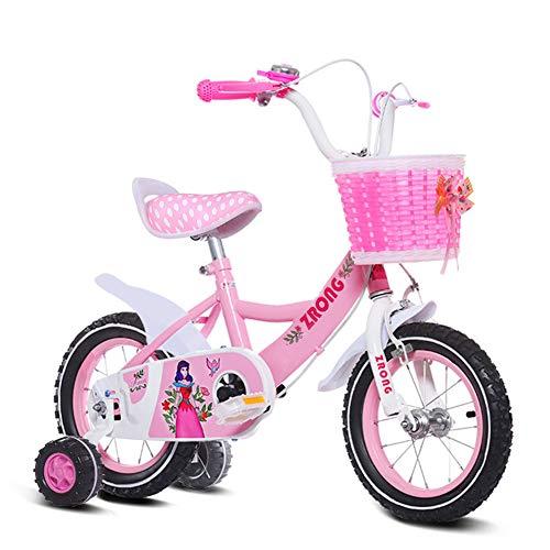"""1-1 12"""" 14"""" 16"""" 18"""" Zoll Kinderfahrrad Mädchen ab 3 Jahre mit V-Brake und Rücktritt - BMX Modell 2019,Pink,18IN"""