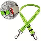 Tie Langxian Chien Ceinture de sécurité de Voiture,Corde de Voiture pour Animal Domestique Ceinture de sécurité élastique Corde rétractable(Vert)