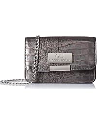 Gio Collection Women's Sling Bag (Silver)