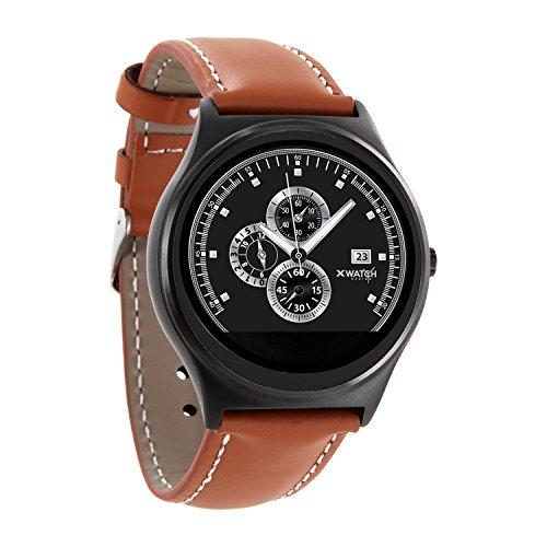X-WATCH QIN XW PRIME II Light cognac brown - ultra slim Android und iOS Smartwatch - elegante Herren Smartwach Express-bluetooth-notebooks