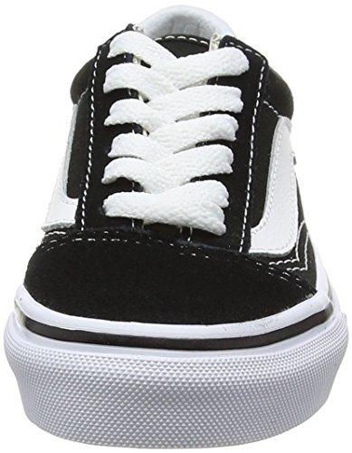 Vans Uy Old Skool, Sneakers Basses Mixte Enfant Noir (Black/true White)