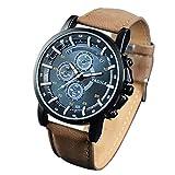 LCLrute Top Marke Business Männliche Uhr Quarz-Armbanduhr Freizeit Leder Quarzuhr Yazole Herrenuhr Luxus (B)