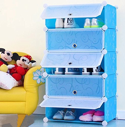 House of Quirk DIY Shoe Rack Plastic Shoe Storage Organizer Cabinet