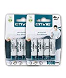 #6: Envie 8 Nos of AA 1000 mAh Ni-CAD Rechargeable battery