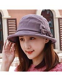 Willsego Sombrero de Mujer Ms Cap Primavera Verano Hilo Gorra Visera de  algodón Domo Sombrero de 765813535b1
