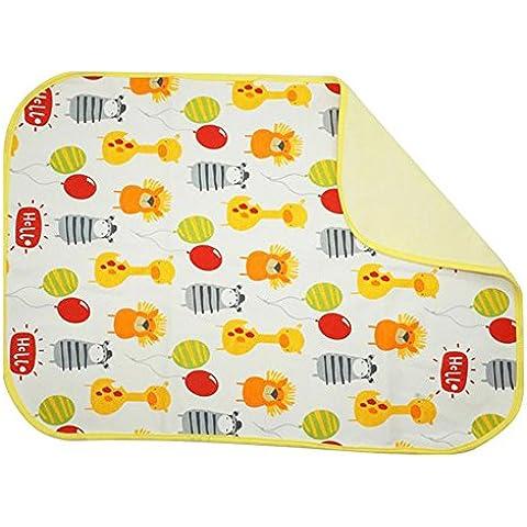 CuteOn Bebé Cambio de pañales Tabla / Colcha / impermeable Hojas - colores surtidos 70x120 cm