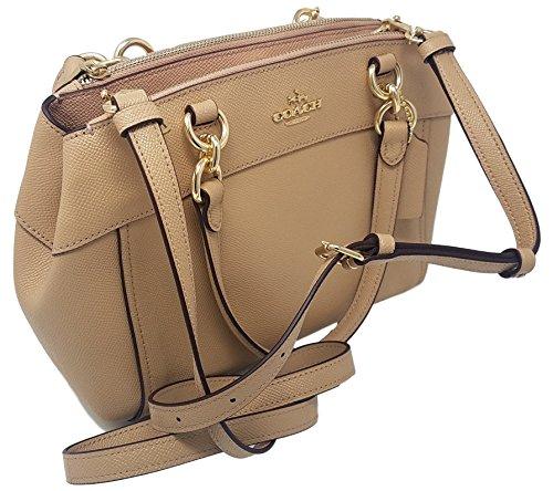 Coach Womens Mini Brooke Carryall Handbag, Signature Crossgrain Leather, Detachable Crossbody Strap (Mini, Nude Pink)