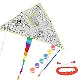 Neuer DIY Anstrich-Drachen Mit Pigment-Drachen Für Kinderkinder, Die Spielzeug Im Freien Fliegen