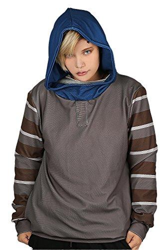 Tobi Cosplay Kostüm - Cosplay Kostüm Hoodie Spiel Kapuze pullover Jacke Grau Sweatshirt Polyester Top Mantel Kleidung für Erwachsene Zubehör