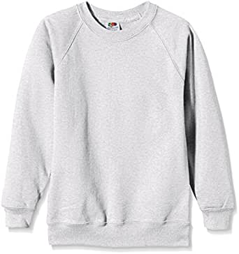 Fruit of the Loom 62-039-0 - Sweat-Shirt - Mixte Enfant - Gris (Heather Grey) - Taille: 3-4 Ans