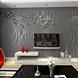 reyqing 3d tridimensional Relief, moderno papel pintado para pared, televisión fondo, pared papel, profundo presión gruesa, líneas, luz amarillo, pape