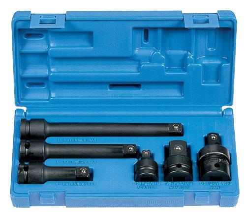 Preisvergleich Produktbild Grau Pneumatische (2200) 1/5,1cm Antrieb 6Adapter/Verlängerung Socket Set