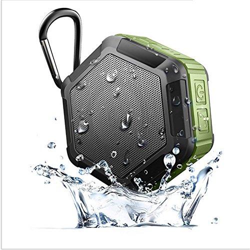 QAZWSX Im Freienkletternder Wasserdichter Bluetooth Lautsprecher Wasser-Beweis Bluetooth Lautsprecher IPX7 Wasser-Beweis Bluetooth Sound,Green