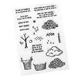 Homyl Silikonstempel durchsichtiger Stempel für DIY Handwerk Scrapbooking Malerei Kinder Geburtstag - # 3