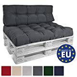 Beautissu Euro-Pallet Cushion ECO Style Pallet Furniture Cushion 120 x 40 x 15cm Graphite Grey Back Cushion Outdoor
