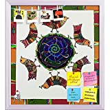 ArtzFolio Abstract Artwork 27 Printed Bulletin Board Notice Pin Board cum White Framed Painting 16 x 17.8inch