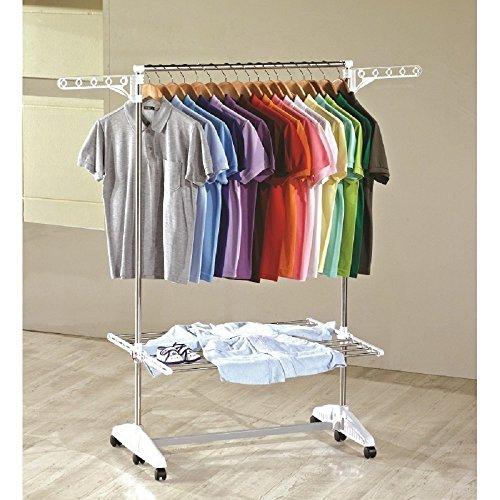 One Click Luxus Wäscheständer, Wäschetrockner, Turm, Standtrockner mit klappbaren Seitenflügel auf 1 - Ebene
