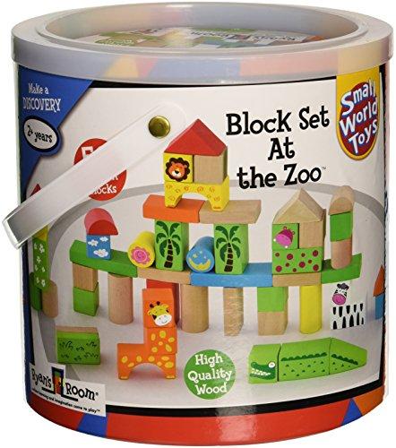 Pequeño mundo juguetes juguetes de madera de la sala de Ryan–en el zoo bloques 50PC. Set