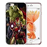 Blitz® Avengers Helden Schutz Hülle Transparent TPU Cartoon Samsung Galaxy Hulk M2 S5 Mini