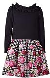 Bonnie Jean Langarm Mädchen-Kleid Hipsterkleid mit Rosen Gr. 128,134,140,152,158,164 Größe 158