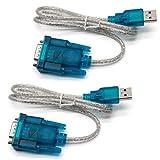Yohii PDA-Kabel/GPS-Konverter, USB 2.0 auf Seriell RS323, 9 Pin, Blau, 2 Stück
