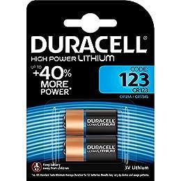 Duracell Ultra 123 - Batería de Litio para fotografía (2 Unidades, 3 V, DL123, EL123A, CR123A, CR17345)
