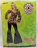 Smiffys, Damen Hippie Kostüm, Oberteil und Schlaghose, Größe: L, 30442