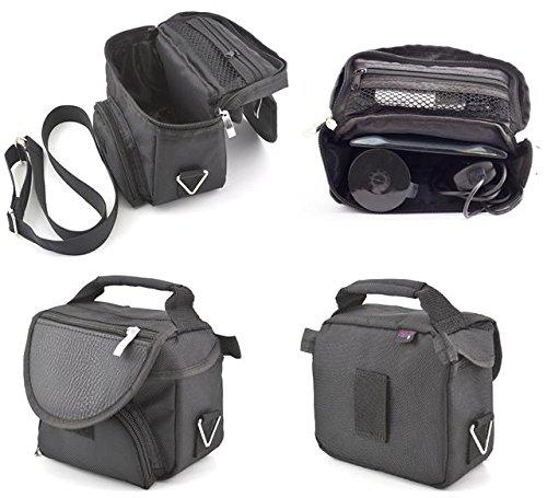 Schwarze Reisetragetasche für Garmin Nuvi 42 42LM 44 44LM Sat Nav GPS mit Tragegurt und Zubehörfach