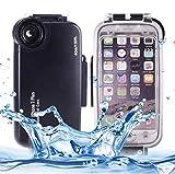 WLWLEO Für iPhone 8 Plus & 7 Plus Hülle, 40m wasserdichtes Tauchgehäuse PC + ABS...