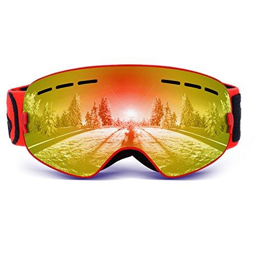 Skibrille Kind Vitalismo Snowboardbrille mit wechselgläser UV400 Schutz Anti-Fog Brille sphärische Linse für Skifahren Snowboarden Skaten