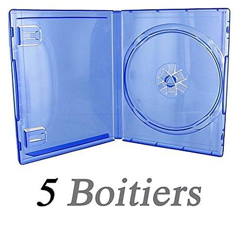 Boitier Jeu Ps4 - 5 Boitiers pour jeu PS4 - BLEU