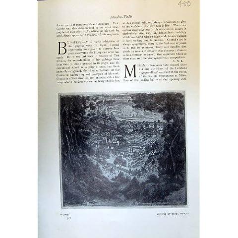 Envío Antiguo de la Industria de los Hombres del Astillero de Capri Gyula Conrado de la Opinión de la Impresión 1913
