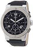 Esprit Herren-Armbanduhr XL Phorcys silverblack Chronograph Quarz Leder EL101811F02