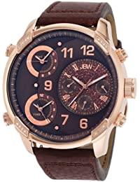 JBW-JUST BLING  J6248LH - Reloj de cuarzo para hombre, con correa de cuero, color marrón