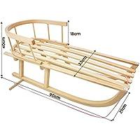 AXER Deportes, trineo de madera de haya madera Incluye Respaldo separable y cuerda, fabricado en Polonia