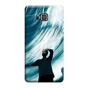 Desicase Samsung Alpha Patternic Nature Waves 3D Matte Finishing Printed Designer Hard Back Case Cover (Multicolor)